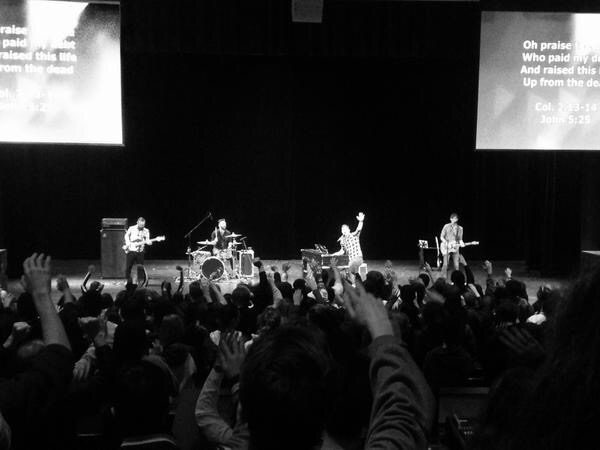 Sixteen Cities leads Faith students in a heart-to-heart worship service.