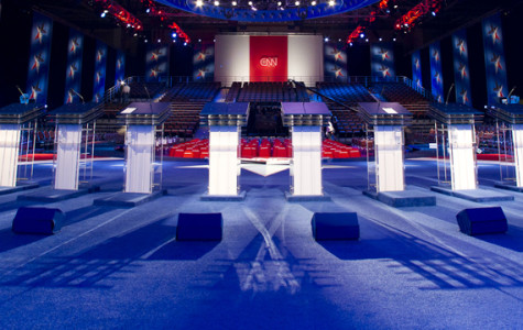 The stage is set for the Democratic Candidates to take the stage.   Picture Credit to: http://i2.cdn.turner.com/cnn/2011/images/10/05/t1larg.debate-stage-empty.t1larg.jpg