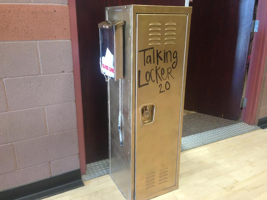 The Talking Locker outside Mrs. Buuck's office.
