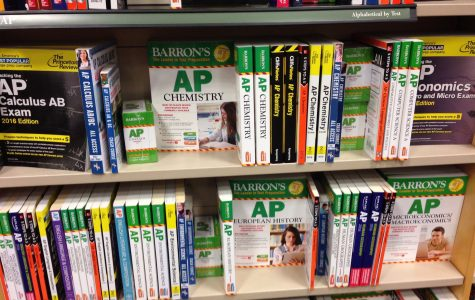 Different kinds of AP Practice Books in the book store.
