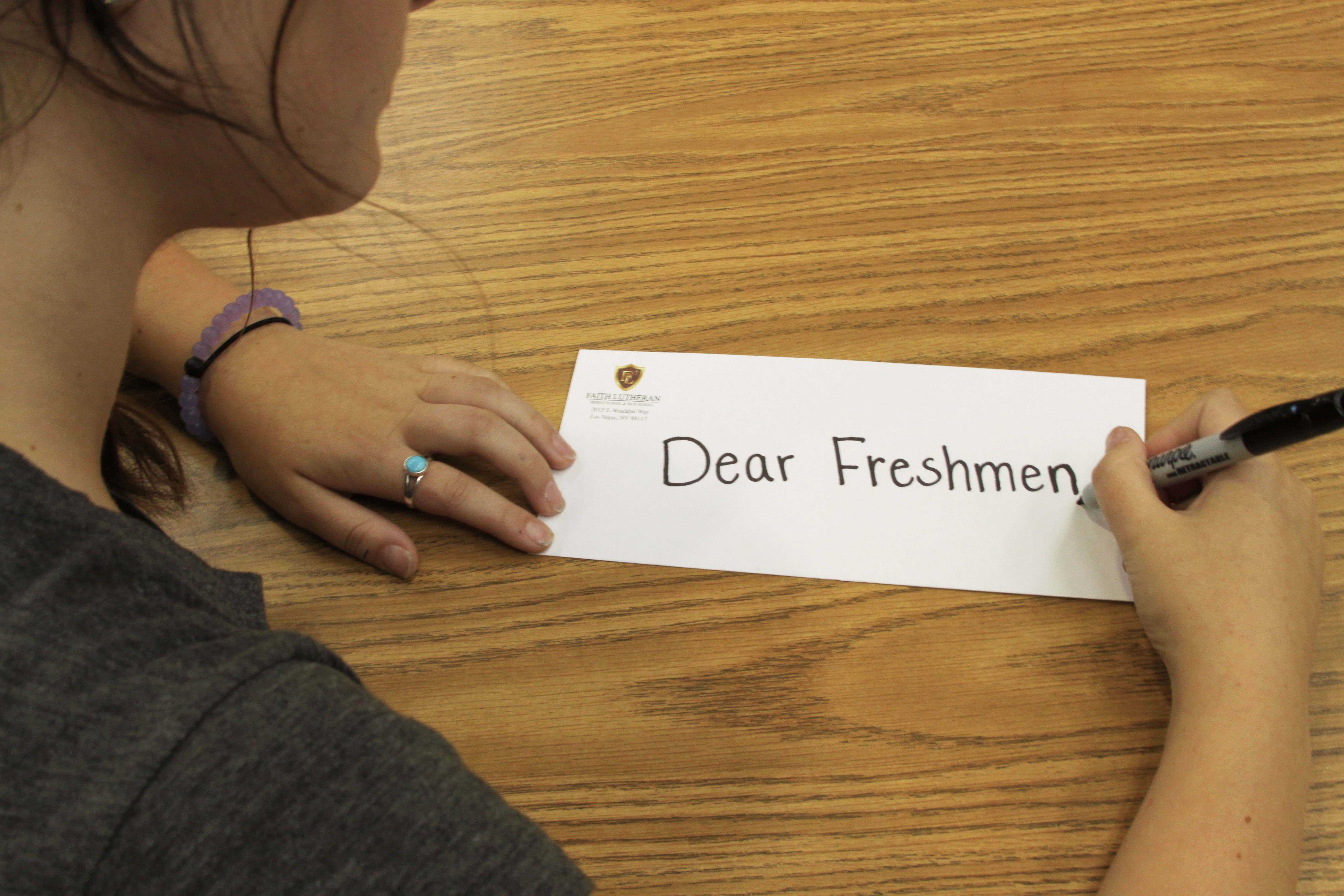 letter to freshmen In love, mama, a mom writes a letter to her daughter before she leaves for freshman year she conveys motherly advice, love and a wicked sense of humor.