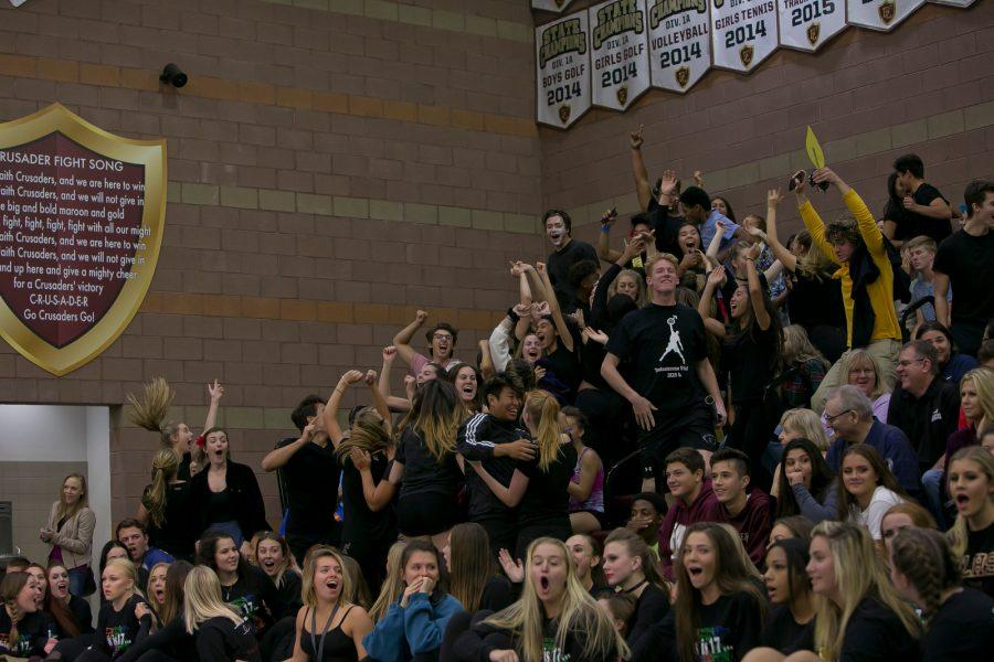 Moments after the final results, seniors react to the Class of 2018s victory