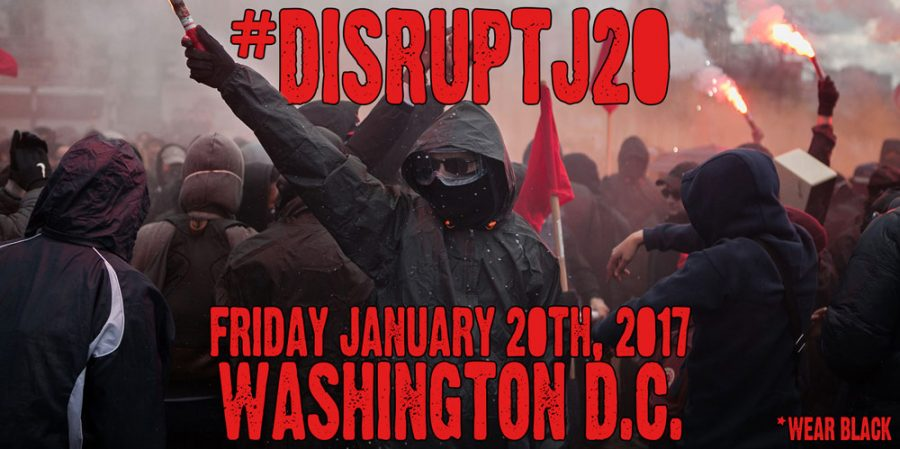 A social media post about #DisruptJ20