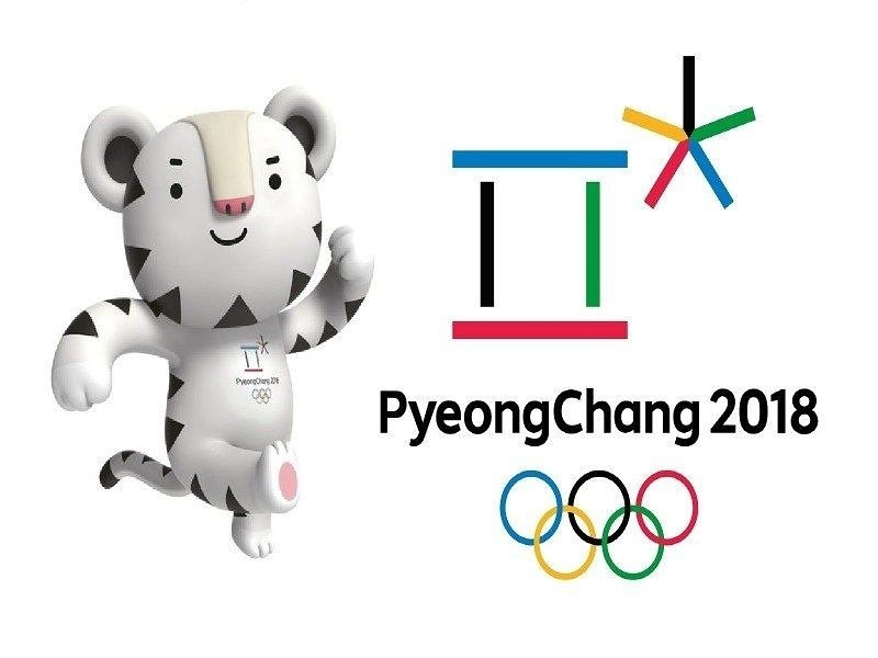 The+logo+of+the+2018+Winter+Olympics