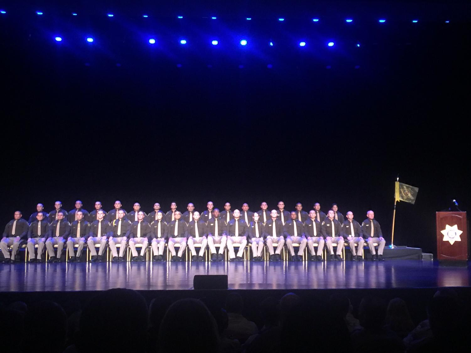 Graduates from the Las Vegas Metropolitan Police Department Police Academy.
