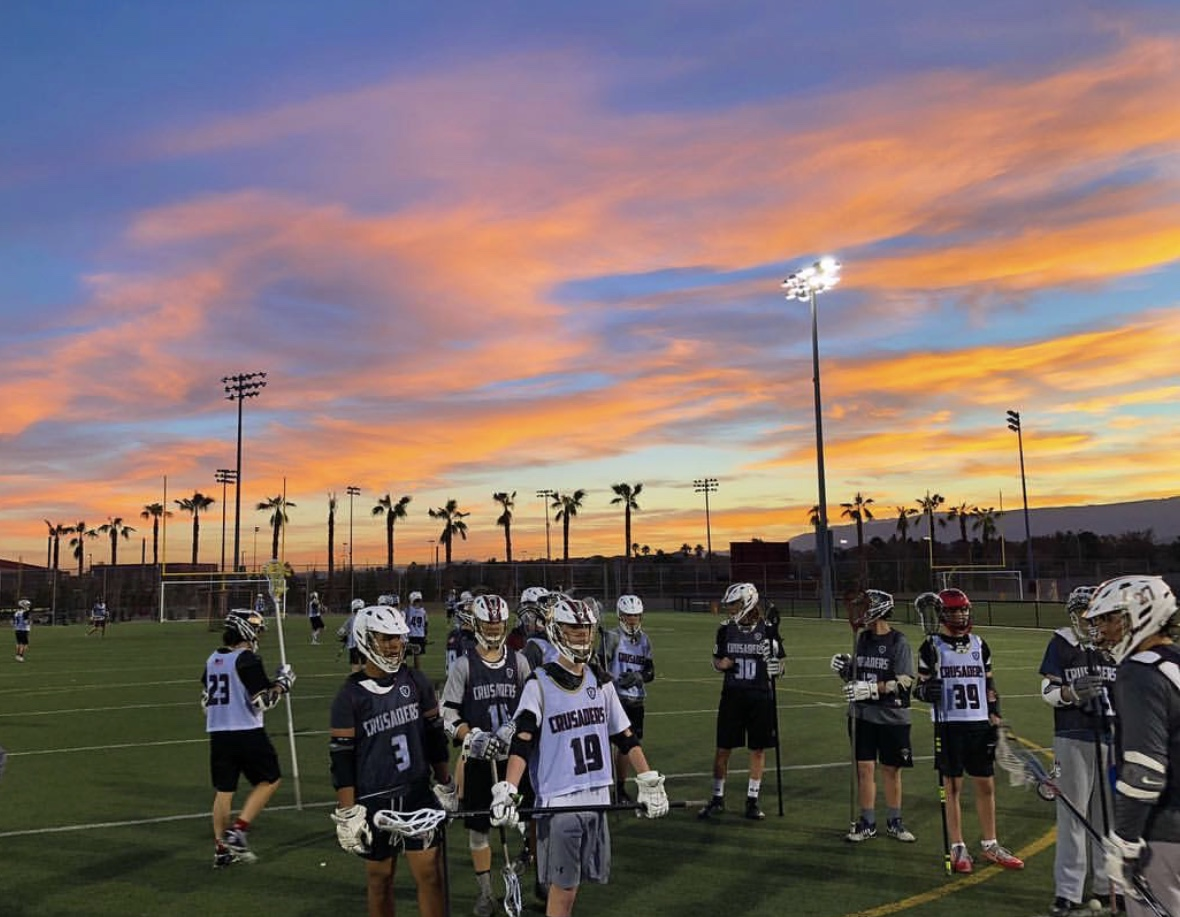 The varsity team is thirsty for a win after losing their first game of the season.  Picture Credit: Faith Lutheran Lacrosse via Twitter