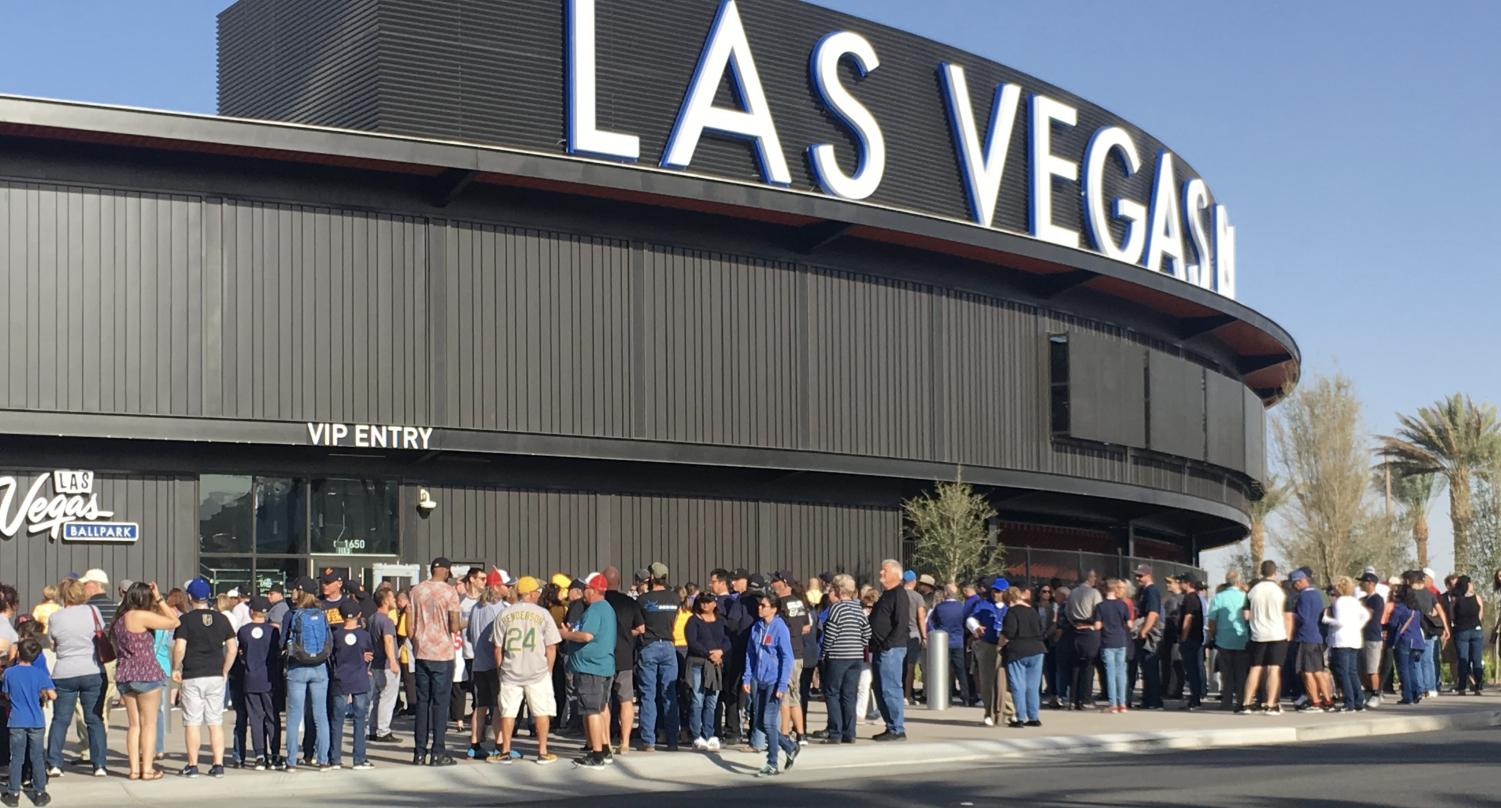 The Las Vegas Ballpark is the newest addition to the Downtown Summerlin area and located next to City National Arena, the practice arena for the Golden Knights.
