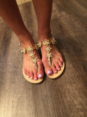 C&V gel polish pedicure, $35, with a foot massage.
