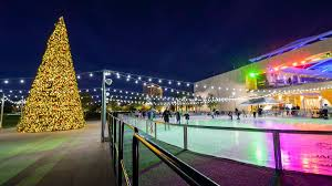 The ice rink at Downtown Summerlin is open from 4-9 PM.