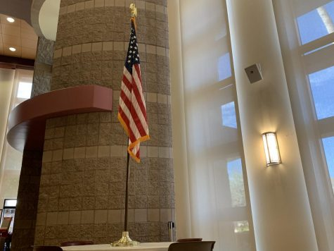 American Flag in the Faith CPAC.