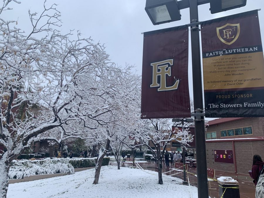 Breaking News: Snow Flurries On Campus