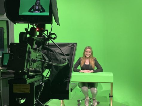 Junior Kendall Bear anchors her first broadcast for the FLNN.