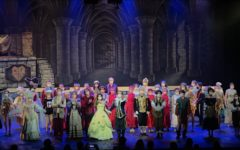The cast gets a standing ovation for their performance of Beauty and the Beast.