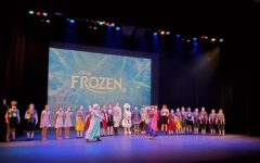 The cast  of Faith Lutheran's production of Frozen Jr. takes a final bow.